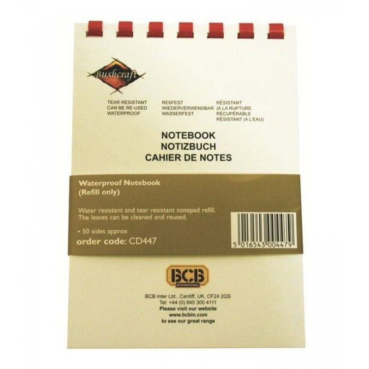 Wkłady do notesu wodoodpornego BCB